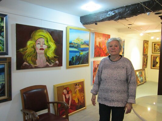 Son atelier-galerie à Agde