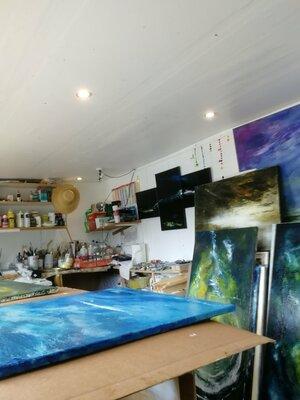 Mon Atelier,  les toiles sèchent ...