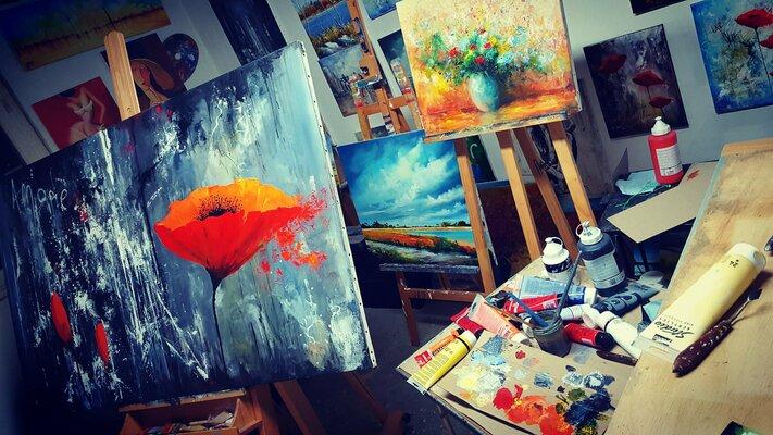 Atelier de l'artiste peintre BRUNI